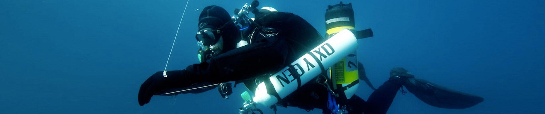 Tec Course Tecrec 40 Tec 45 Tec 50 Technical diving Sardinia Tec dive Tec wreck Dsat tecrec dive palau sardegna