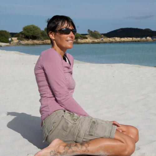 steph on beach Sardegna Italy